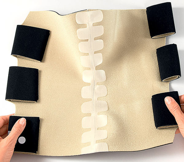 CircAid velcro spine for Knee Compression